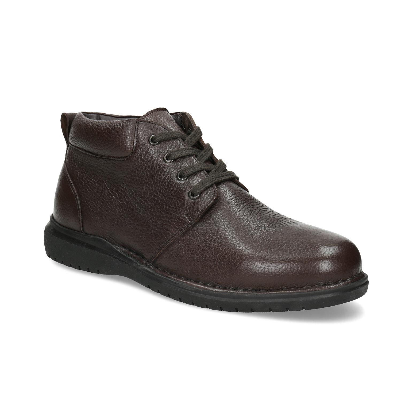 3d21cc4990 Kožená zimní kotníčková obuv pánská