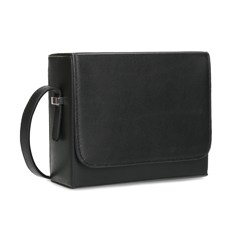 Černá dámská kožená Crossbody kabelka