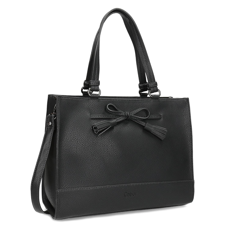 Dámská kabelka s mašlí černá