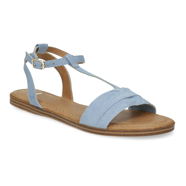 Světle modré dámské sandály