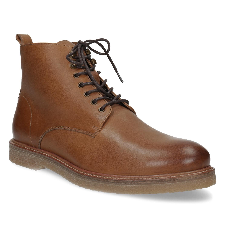 df4a70eba Kožená pánská hnědá kotníčková obuv   Lookio od Plné Peněženky ...